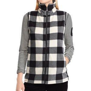Chaps Sport Plaid Fleece Vest